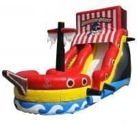 Pirate ship water slide